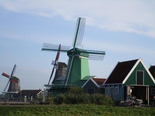 Windmills in Zaanse Schans.