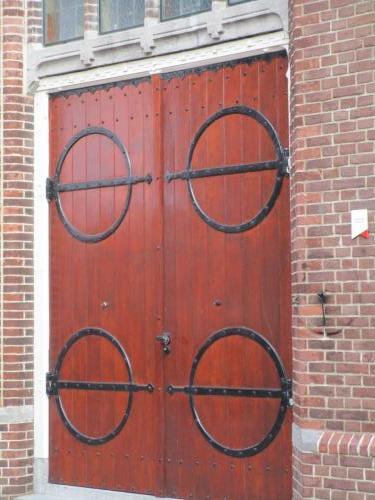 Catholic church door.