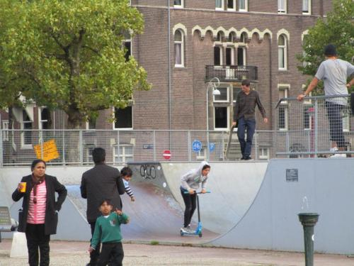 Skate park in Museumplein Park