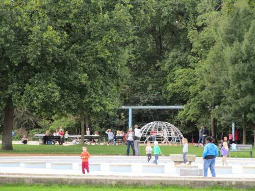 Kids playing in the playground area of Vondelpark.
