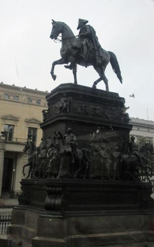 At the time I was just taking a photo of a random statue, but later was told it was Frederick the Great, who seems like a pretty interesting dude. Must research him further.