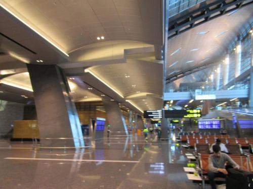 Beautiful, virtually empty Hamad Airport in Doha