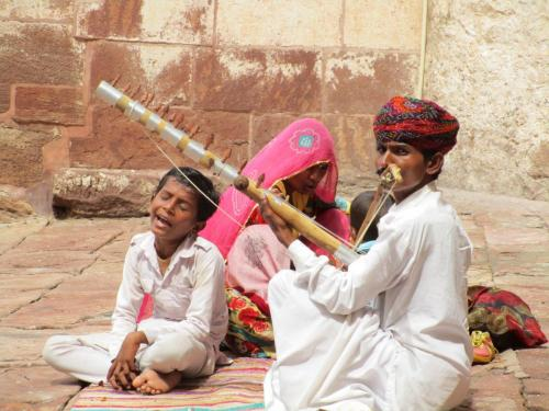 Musical family at Mehrangarh Fort