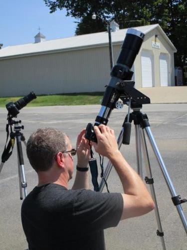 Pete adjusting the telescope